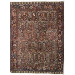 Antique Persian Khamseh Carpet