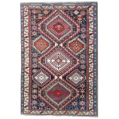 Antique Turkish Shirvan Rug, Handmade Carpet Rug