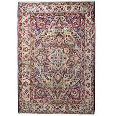 Fine Antique Persian Kerman Tree Of Life Design Carpet At