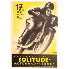 "Vintage Sport Poster ""International Solitude Motorcycle Racing,"" May, 1936"