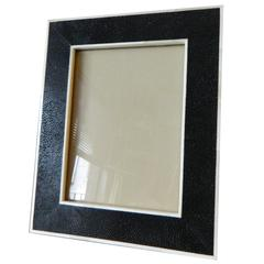 Shagreen Picture Frame with Bone Inlay