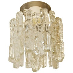 Petite Kalmar Ice Glass Flush Mounted Pendant