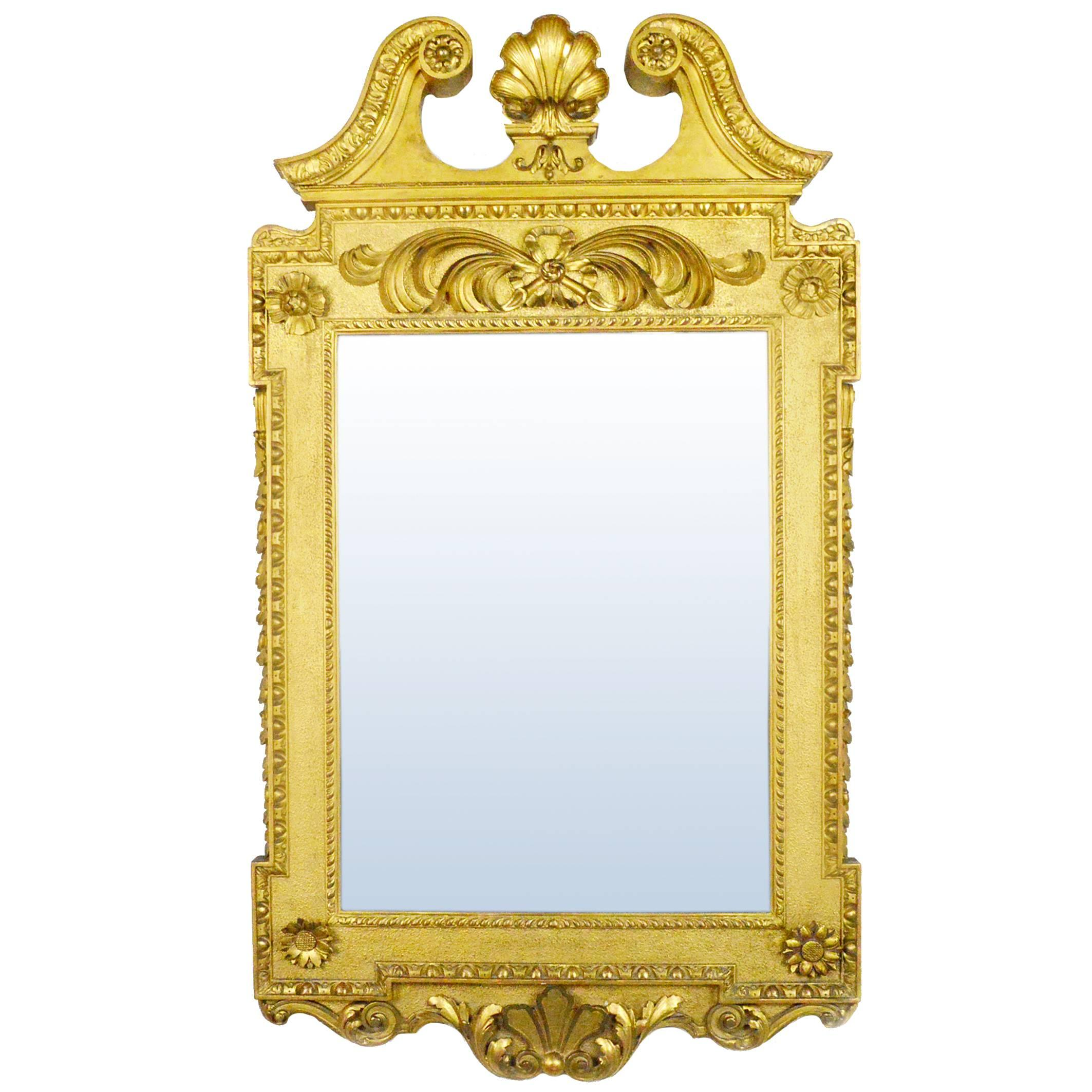 George II Style Gilt Mirror in the Manner of William Kent For Sale ...
