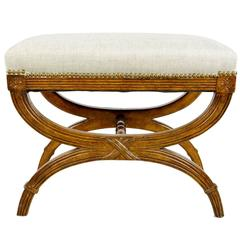 Regency Style Carved X-Stool