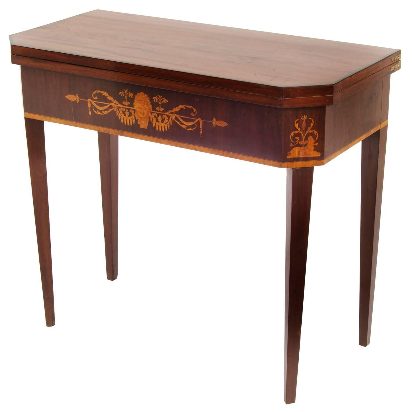 Neoclassical Game Table, 19th Century