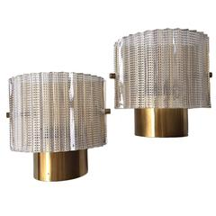 Pair of Wall Lights by Orrefors