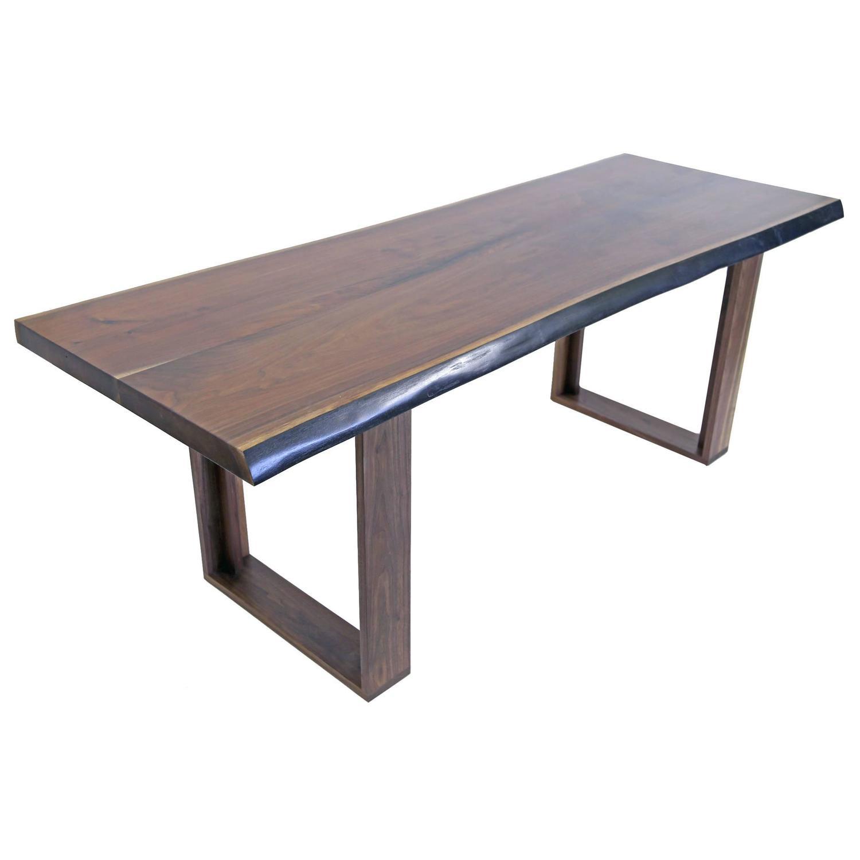 Sentient Black Walnut Live Edge Table 84 Quot X 28 Quot For Sale