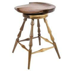 Brubaker Swivel Stool in Walnut, Amish Made