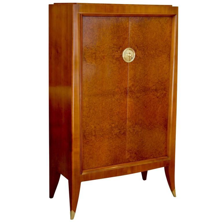 Very Fine Storage Cabinet of an Original Office Duo by Alfred Porteneuve For Sale