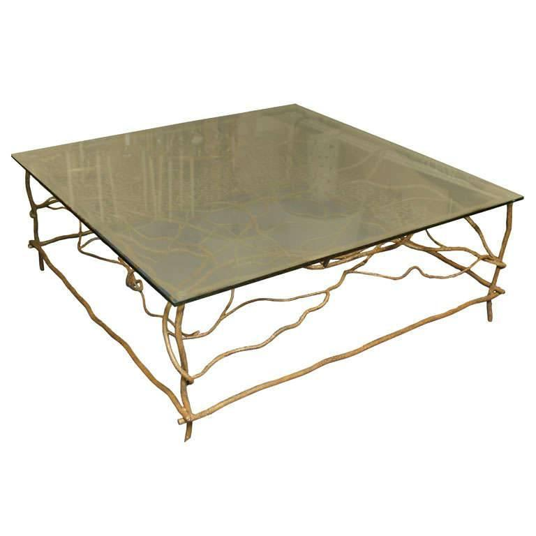 Iron Square Cocktail Table For Sale