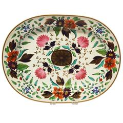 English Crown Derby Ironstone Oval Deep-Well Platter