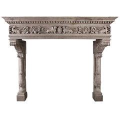 Italian Renaissance Chimneypiece in Istrian Stone