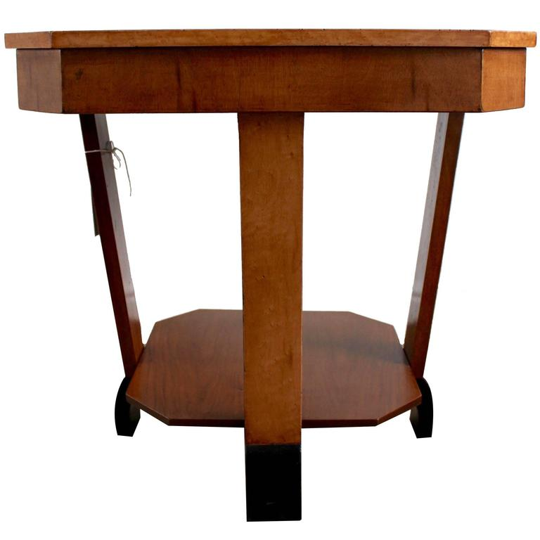 Art Deco Maple And Walnut Lamp Table, Circa 1930 1