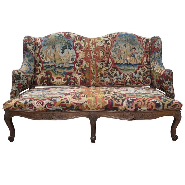 18th Century French Tapestry Sofa For