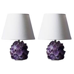 Liz O'Brien Editions Amethyst Crystal Lamps