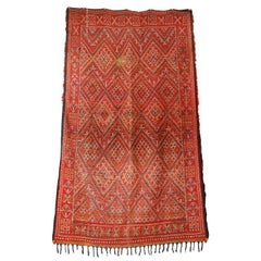 Moroccan Vintage Mid-Century African Tribal Rug, circa 1960s