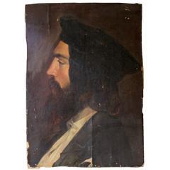 Good Mid-19th Century Portrait of Student, Attributed to Friedrich von Amerling