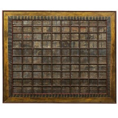 """A 19th C. Carved-Wood Southern Indian Decorative Ceiling Panel, Large 80"""" x 66"""""""