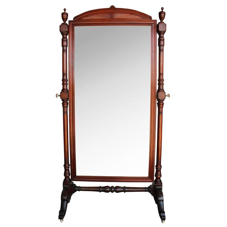 Late 19th Century Regency Cheval Mirror For Sale