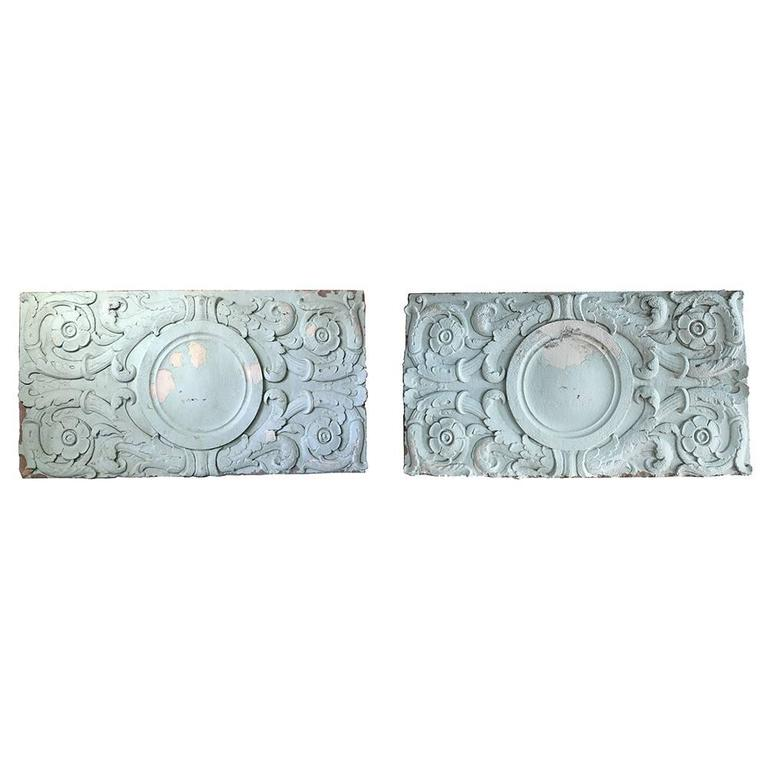 Early 20th Century Cast Stone Architectural Panels For Sale