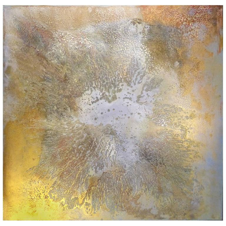 "Contemporary Abstract Titled ""Asteroid"" by Brazilian Artist Andre Brandao"