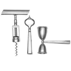 Three-Piece Silver-Mounted Cocktail Set John Hasselbring