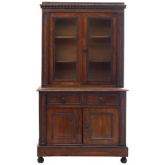 Charming Diminutive 19th Century English Rosewood Step-Back Cupboard