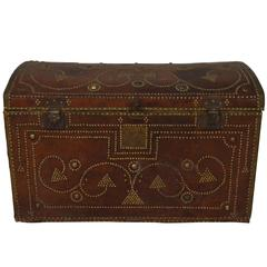 Italian Mid 20th Century Wooden Trunk