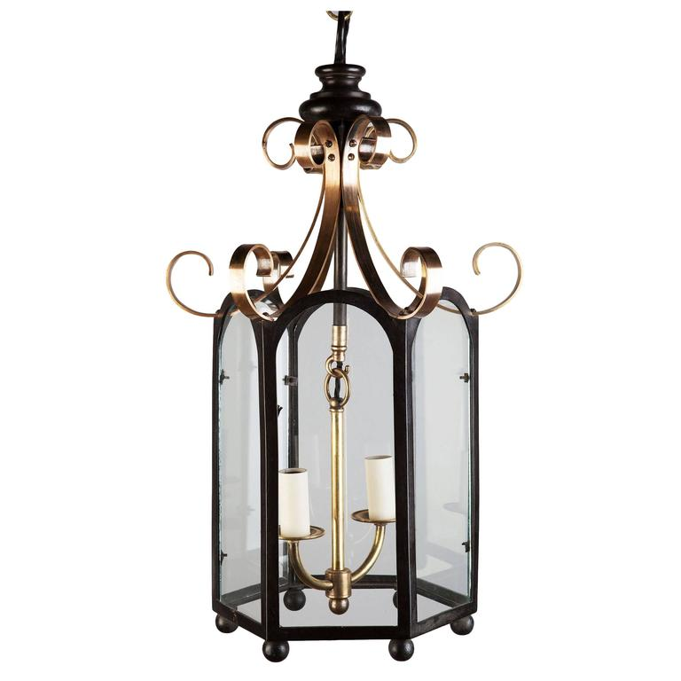 William iv Brass and Bronze Chinoiserie Lantern