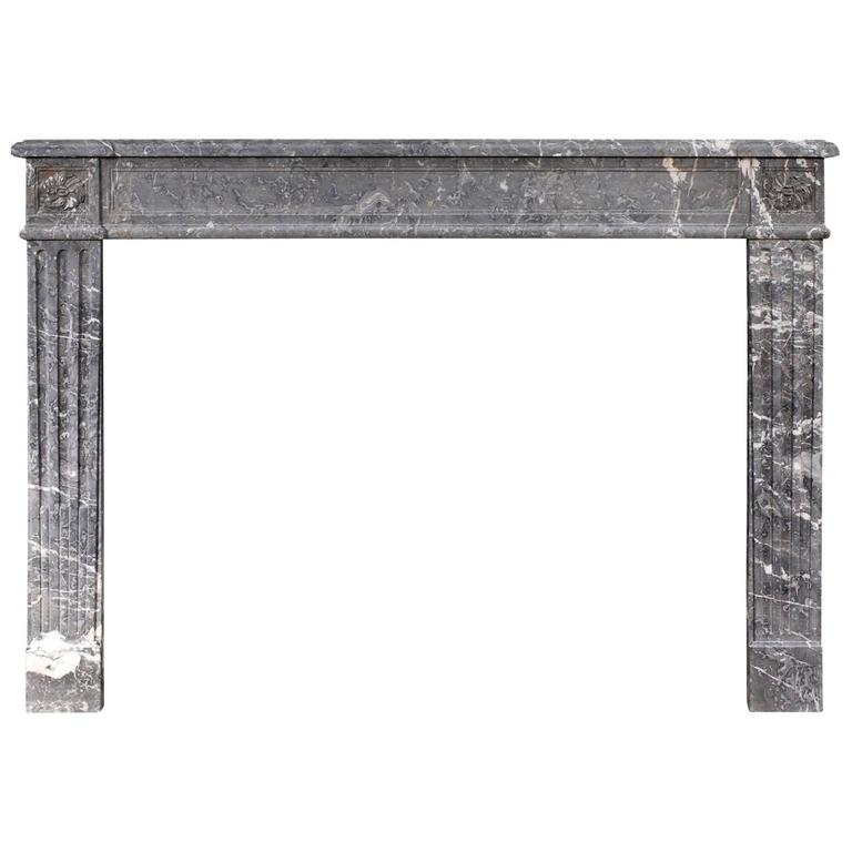 Period French Louis XVI Fireplace in St Anne Des Pyrenees Marble
