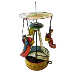 American Tin Toy, Clockwork Carousel, circa 1895