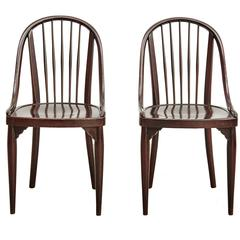 Pair of Chairs by August Thonet for Thonet, circa 1900