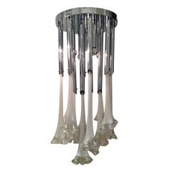 Large Murano Glass Flower Chandelier