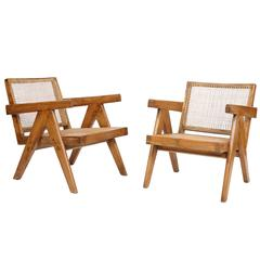 Pierre Jeanneret, Set of Two Easy Armchairs