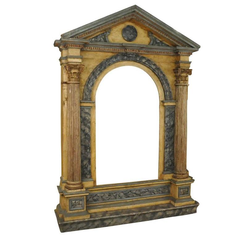 Monumental 18th Century Italian Architectural Niche Facade, Altar Frame