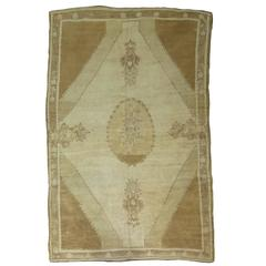 Vintage Turkish Kars Formal Medallion Carpet