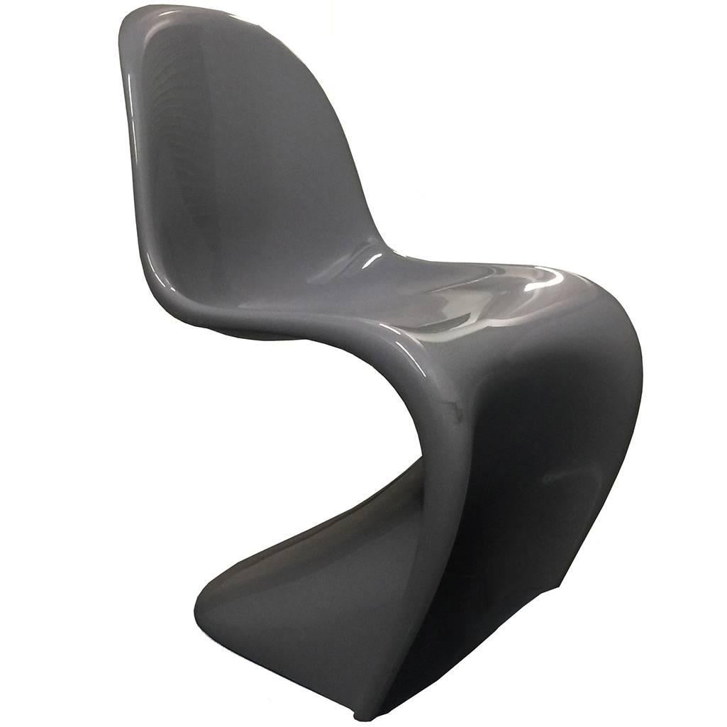 Vitra Panton Chair limited edition gray giberglass vitra panton chairs modern for sale
