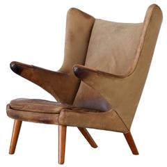 Papa Bear Lounge Chair by Hans J. Wegner, Produced by AP Stolen
