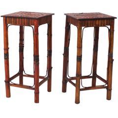 Pair of Chinese Bamboo Pedestals