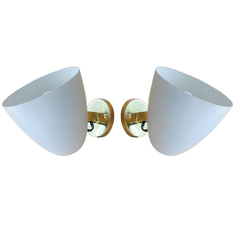 Pair of Gino Sarfatti Arredoluce Pivot Sconces