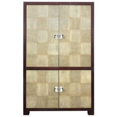 Exceptional Shagreen Cabinet by Larry Laslo