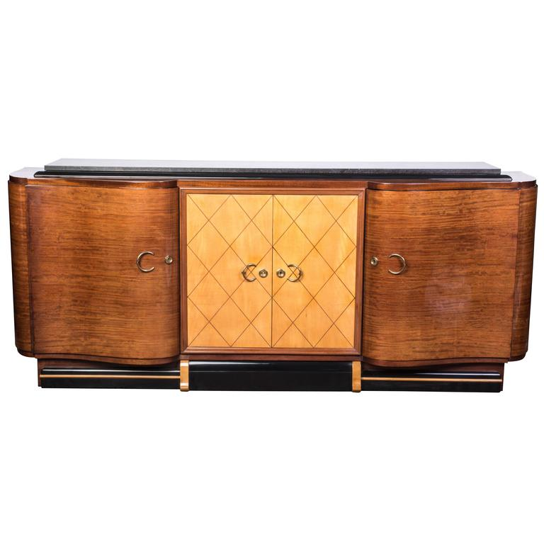 grand french art deco credenza or buffet or sideboard for. Black Bedroom Furniture Sets. Home Design Ideas