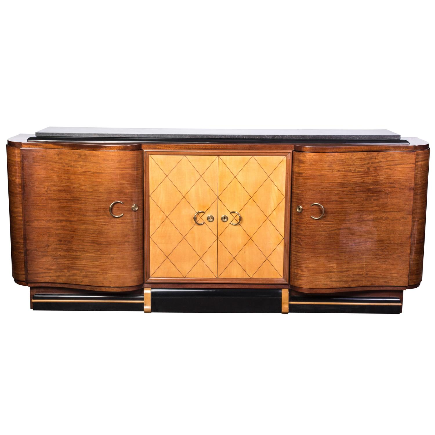 French Art Deco Credenza Or Buffet Or Sideboard For Sale At 1stdibs. Full resolution  snapshot, nominally Width 1500 Height 1500 pixels, snapshot with #C87303.