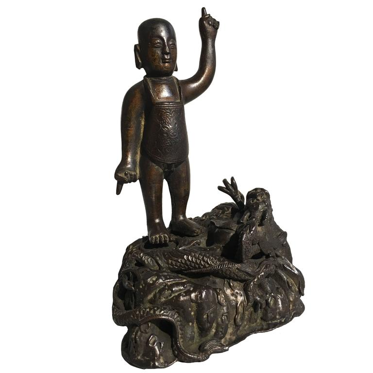 Ming Dynasty Bronze Figure of the Infant Buddha