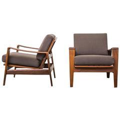 Pair of Danish Teak Lounge Chairs