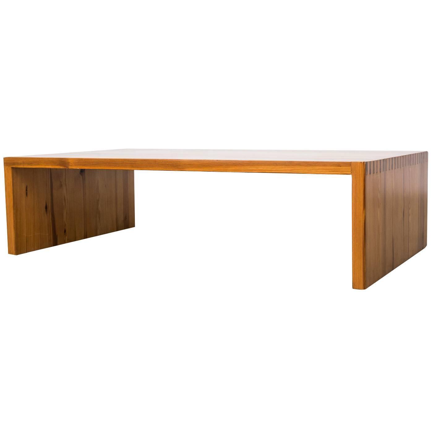 Aat Van Apeldoorn Pine Slat Wood Bench Or Coffee Table 1960 At 1stdibs