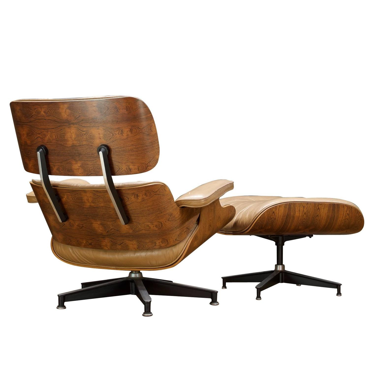 Eames 670 671 Brazilian Rosewood Lounge Chair and Ottoman For Sale at 1stdibs
