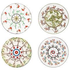 Set of Four Dessert Play Plates Story 1