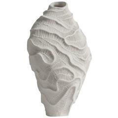 Fossilia White Vase