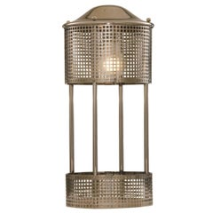 Josef Hoffmann re edition brass Table Lamp by the historical Wiener Werkstaette